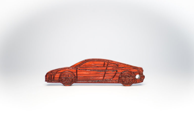 KeyCar Schlüsselanhänger Audi R8 in Padouk fotografiert von Dominik Martin Photography